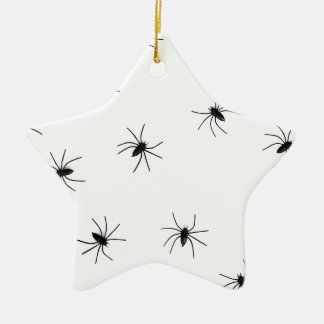 Creepy Black Spider Pattern Christmas Ornament