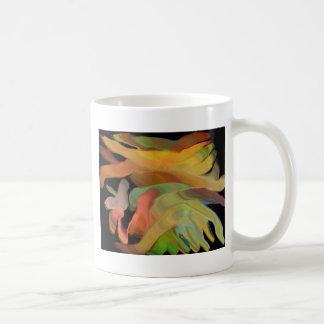 Creepy Blob Cicle Pattern Multi Colored Basic White Mug