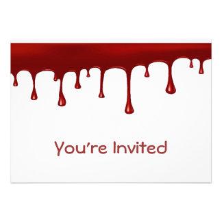 Creepy Blood Drip Custom Invitations