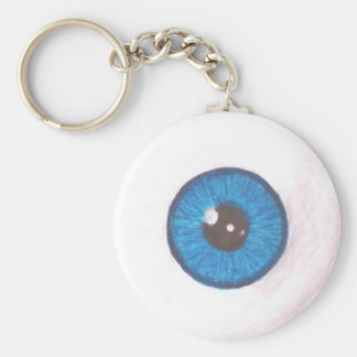 Creepy Blue Eyeball Keychain
