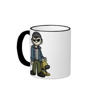Creepy Boy with Dog 1 Mug