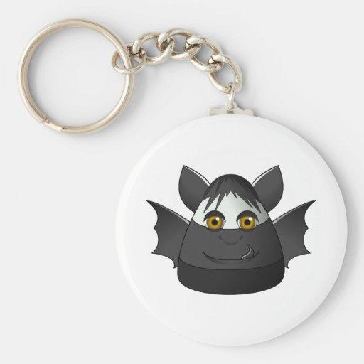 Creepy Candy Corn Bat Key Chain