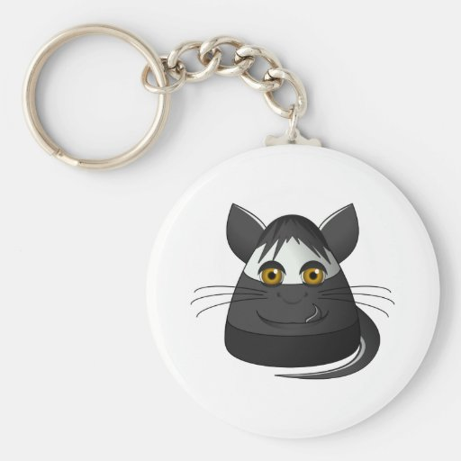 Creepy Candy Corn Cat Key Chain