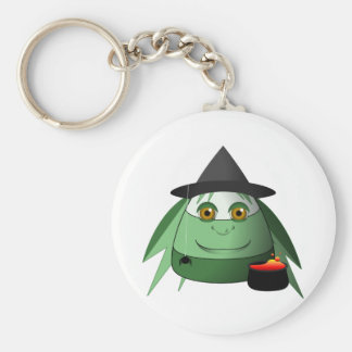 Creepy Candy Corn Witch Keychains