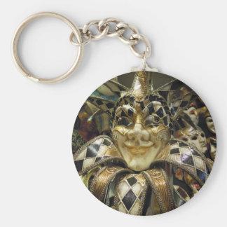 Creepy Carnival Mask Keychain