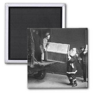 Creepy Christmas Dude, 1920s Square Magnet