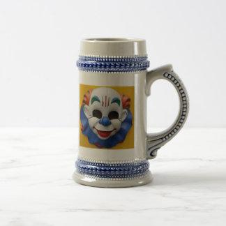 Creepy Circus Clown 18 Oz Beer Stein