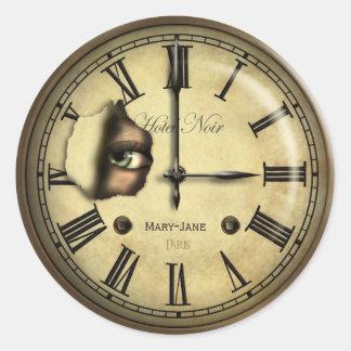 Creepy Clock Personalized Classic Round Sticker