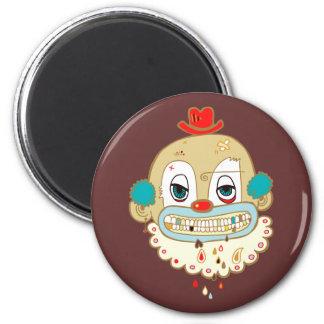Creepy Clown 6 Cm Round Magnet