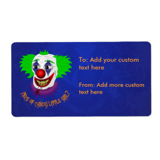 Creepy Clown Avery Label Shipping Label