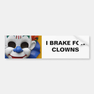 Creepy Clown Bumper Sticker