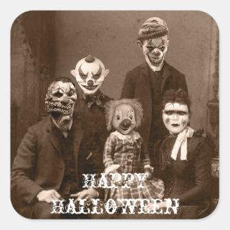 Creepy Clown Family Halloween Sticker