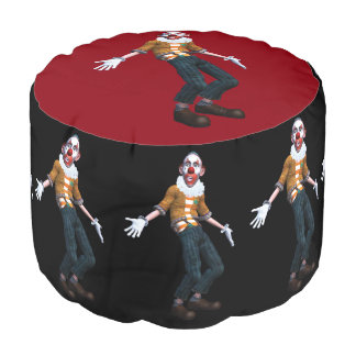 creepy clown what's up round pouf