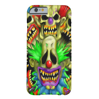 Creepy Collage Carnival Skull Clowns iPhone Case Barely There iPhone 6 Case