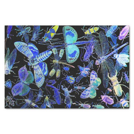 Creepy Crawlies Insect Tissue Paper   Goth Black