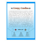 Creepy Crawlies Word Search Postcard