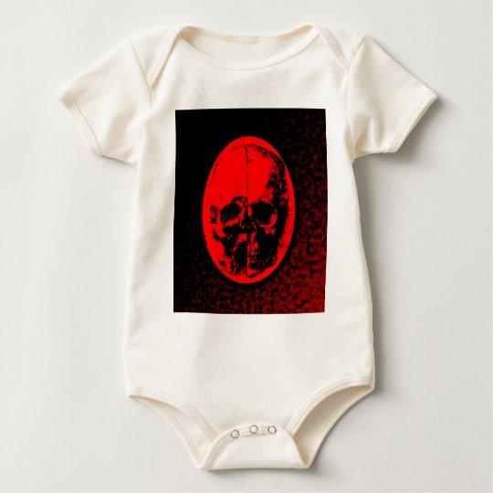 Creepy Crimson Skull Baby Bodysuit