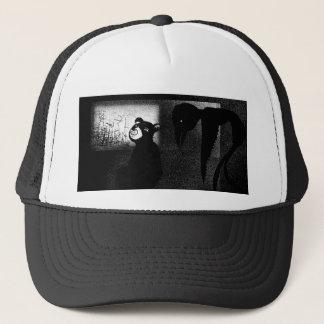 creepy crow trucker hat