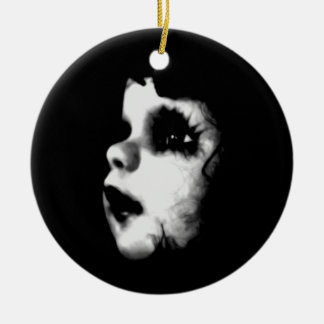 Creepy Doll Faces Christmas Ornament