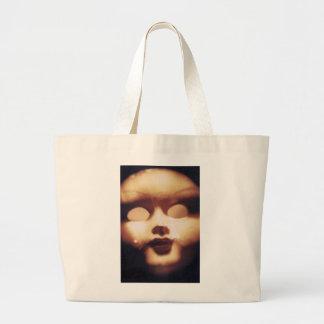 Creepy Doll Large Tote Bag