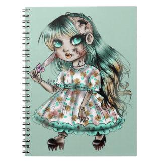 Creepy doll notebooks