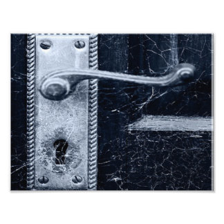 Creepy Door Handle Photographic Print