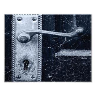 Creepy Door Handle Photographic Print