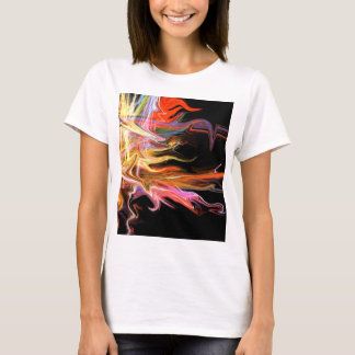 creepy fire icicle abstract cosmic illustration ar T-Shirt