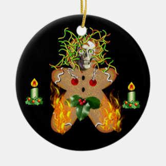 Creepy Gingerbread Man Christmas Ornament