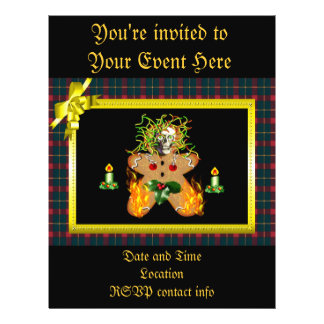 Creepy Gingerbread Man Personalized Flyer