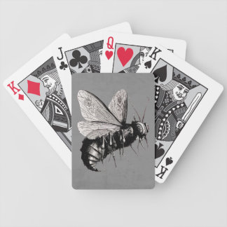 Creepy Gothic Bee Skull Wings Insect Bicycle Playing Cards