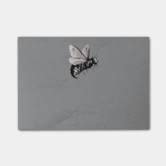 Creepy Gothic Bee Skull Wings Insect Post-it Notes