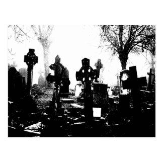 Creepy Gothic Graveyard Postcard