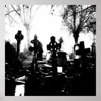 Creepy Gothic Graveyard Posters