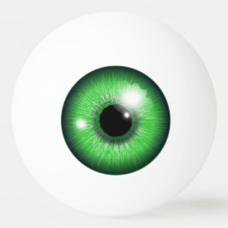 Creepy Green Eyeball Iris Funny Table Tennis Ball