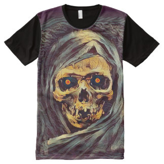 Creepy Grim Reaper Dark Death Art All-Over Print T-Shirt