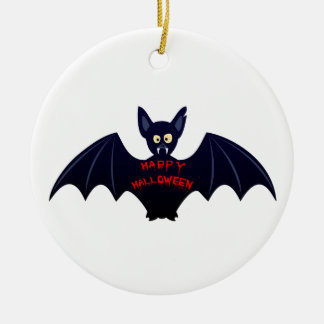 Creepy halloween bat christmas ornament