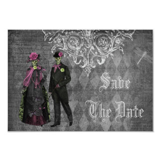 Creepy Halloween Bride & Groom Save the Date 9 Cm X 13 Cm Invitation Card