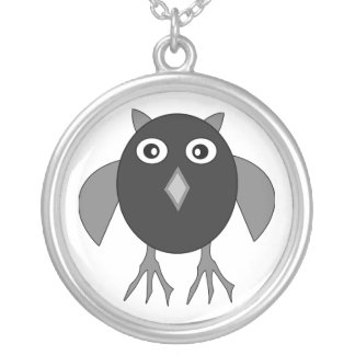 Creepy Halloween Owl Necklace