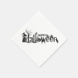 Creepy Halloween Paper Napkins