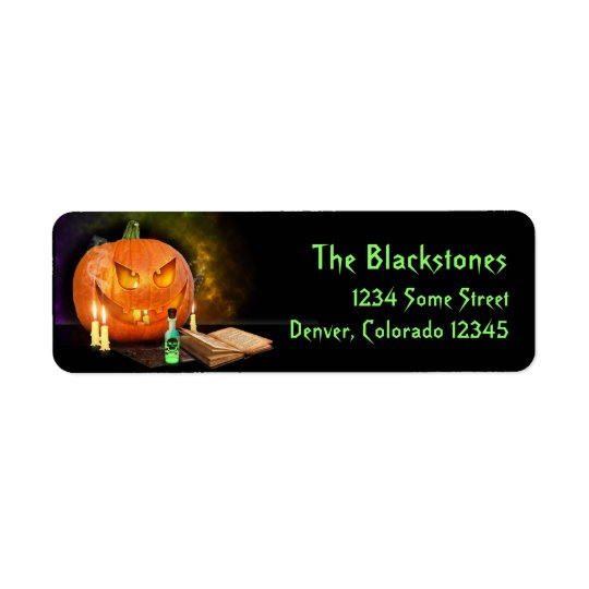 Creepy Halloween Return Address Labels