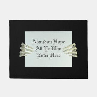 Creepy Halloween Skeleton Hands Small Door Mat