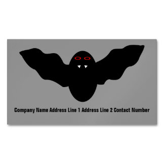 Creepy Halloween Vampire Bat Personalized Magnetic Business Cards