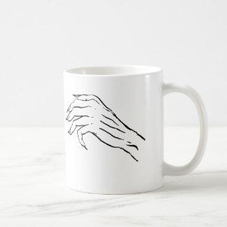 Creepy hand vs Sexy Leg Coffee Mug