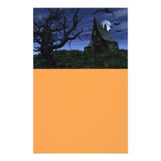 Creepy haunted house 14 cm x 21.5 cm flyer