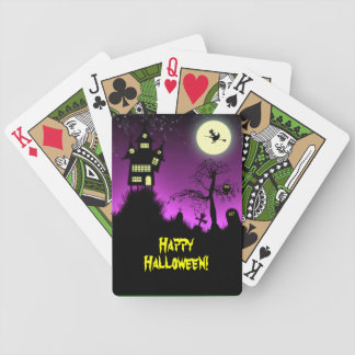 Creepy Haunted House Halloween Bicycle Playing Cards