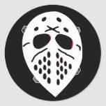 Creepy Hockey Mask Products Round Sticker
