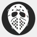 Creepy Hockey Mask Products Round Stickers