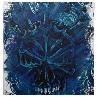 Creepy Horror Skull Napkin