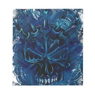 Creepy Horror Skull Notepad